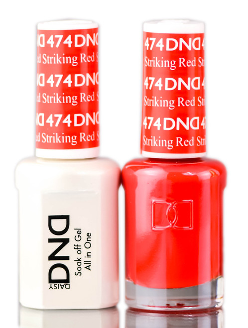 Daisy DND Reds Soak Off GEL POLISH DUO, All In One Gel Lacquer + Matching Nail Polish Color