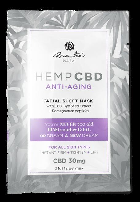 Mantra Mask Hemp CBD Anti-Aging Facial Sheet Mask