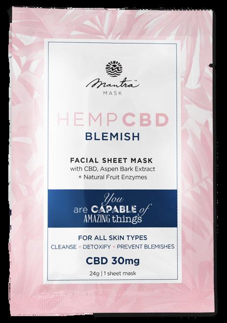 Mantra Mask Hemp CBD Blemish Facial Sheet Mask