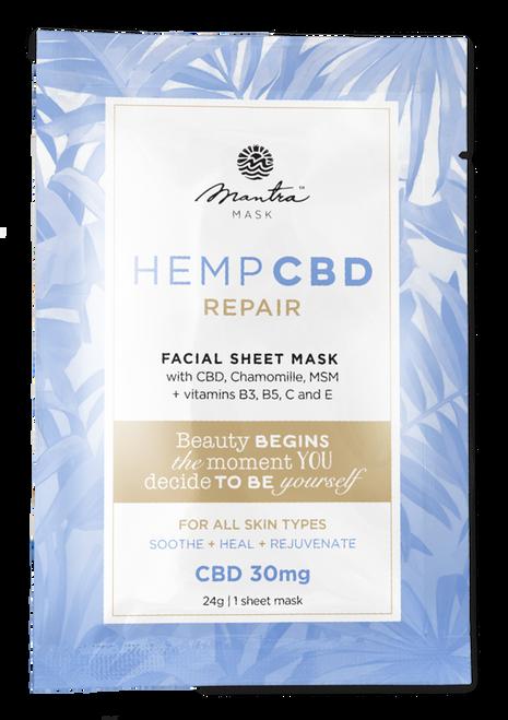 Mantra Mask Hemp CBD Repair Facial Sheet Mask