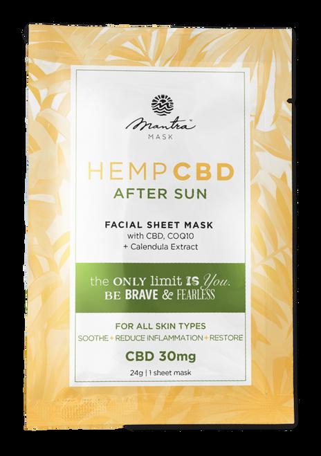 Mantra Mask Hemp CBD After Sun Facial Sheet Mask