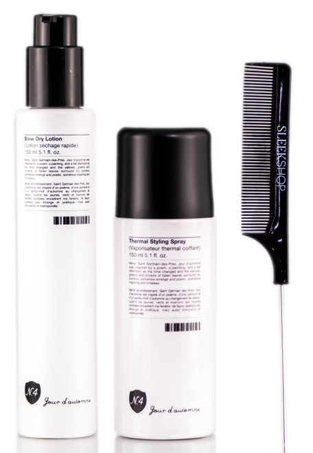 Number 4 Jour d'automne Blow Dry Lotion + d'automne Thermal Styling  + Pin Tail Comb KitSpray +