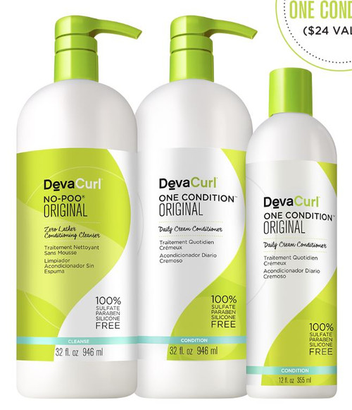 Devacurl Curly Double Take Cleanser & Extra Conditioner Kit