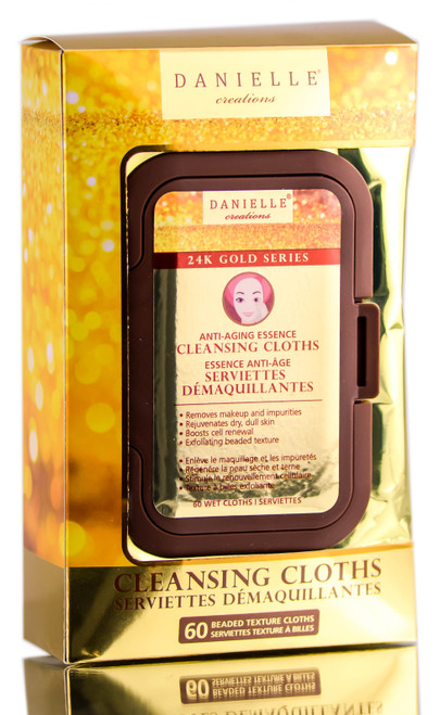 Danielle Creations 24k Gold Series Anti-Aging Essence Cleansing Cloths