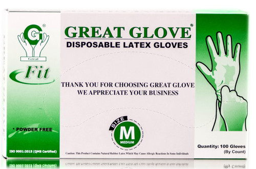 Great Glove Disposable Latex Gloves Powder Free