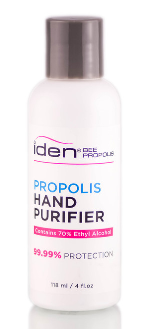 Iden Bee Propolis Hand Purifier, 70% Ethyl Alcohol (99.99% Protection) with Aloe