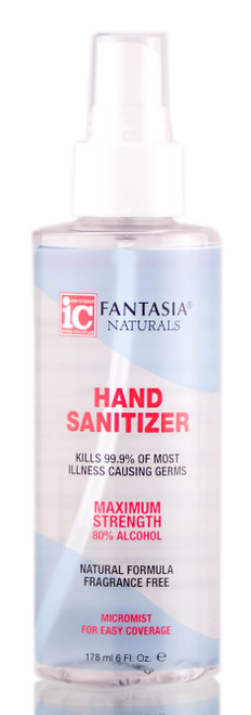 Fantasia IC Hand Sanitizer Spray (Micromist), Maximum Strength, 80% Alcohol