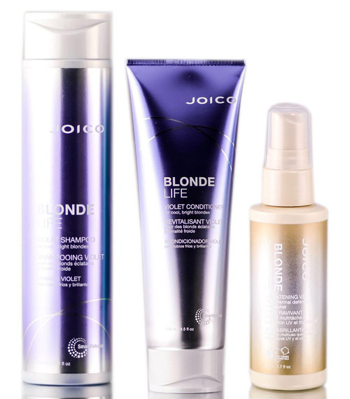 Joico Blonde Life Violet Shampoo & Conditioner & Brightening Veil