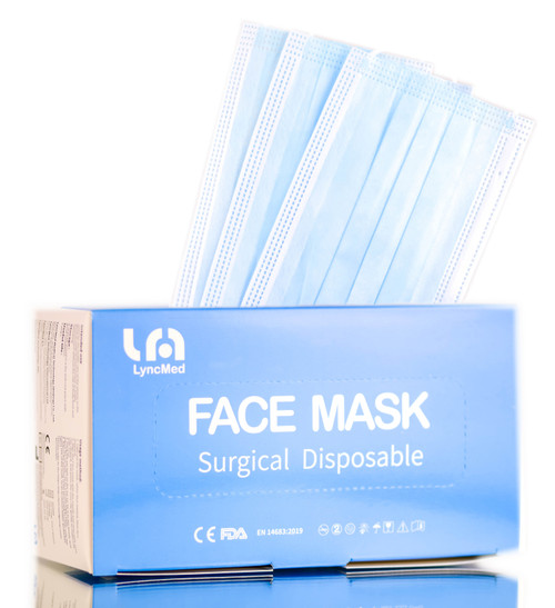 LyncMed Face Mask, Surgical Disposable, 3 Layers Non-Woven