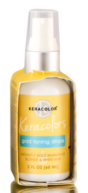 Keracolor Gold Toning Drops for Warm Blonde Tones