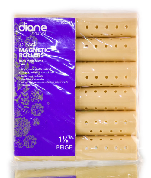 Diane Beige Magnetic Rollers (#D2719)