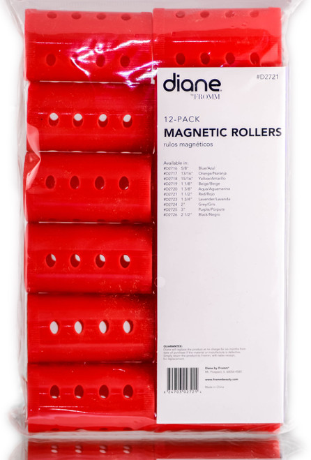 Diane Red Magnetic Rollers