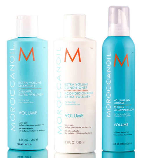 MoroccanOil Extra Volume Shampoo & Conditioner & Mousse