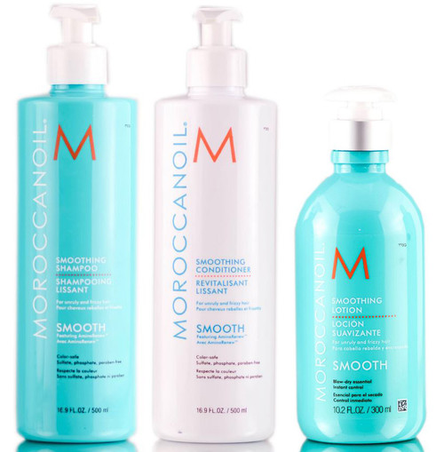 MoroccanOil Smoothing Shampoo & Conditioner & Lotion