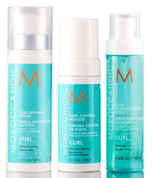 MoroccanOil Curl Cream, Mousse, Re-Energizing Spray