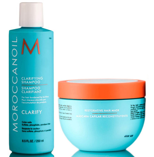 MoroccanOil Clarifying Shampoo & Restorative Hair Mask