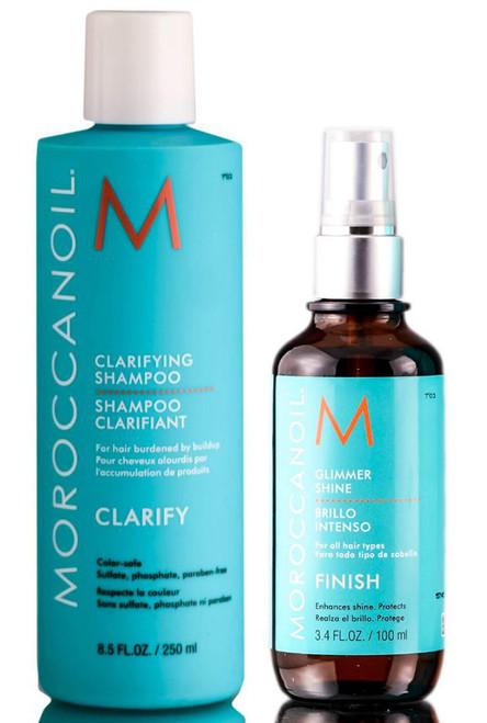 MoroccanOil Clarifying Shampoo & Glimmer Shine