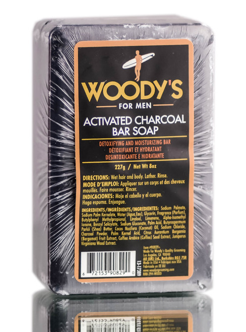 Woody's For Men Activated Charcoal Bar Soap
