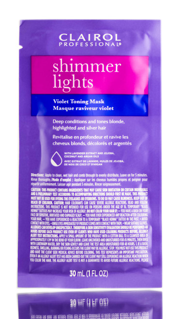 Clairol Shimmer Lights Violet Toning Mask