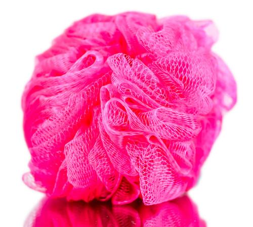 Diane Mesh Hot Pink Body Sponge
