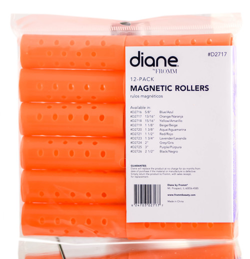 Diane Orange Magnetic Rollers