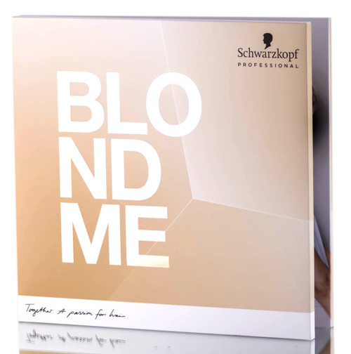 Schwarzkopf Professional BlondMe Hair Dye Swatch Book