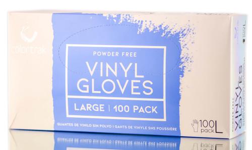 Colortrak Clear Powder Free Vinyl Gloves