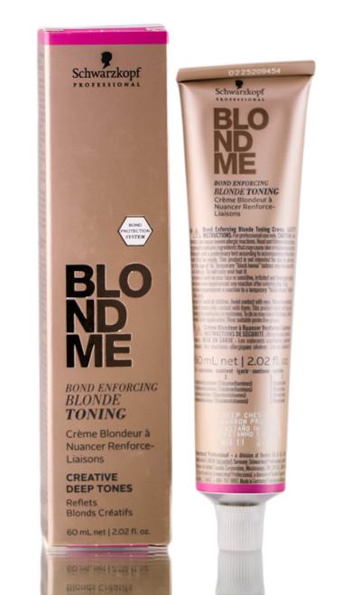Schwarzkopf BlondMe Bond Enforcing Blonde Toning - Creative Deep Tones Hair Toner(2.02 oz)