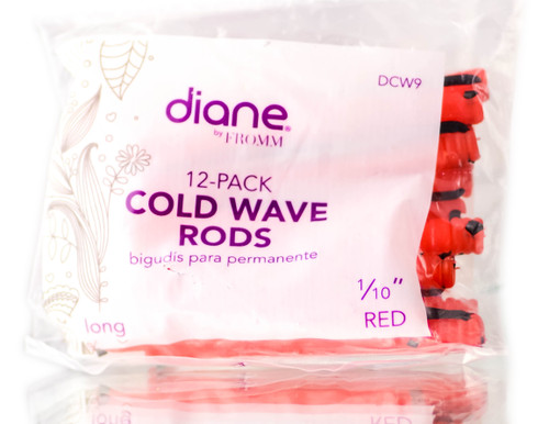 Diane 12 PC Red Cold Wave Rods