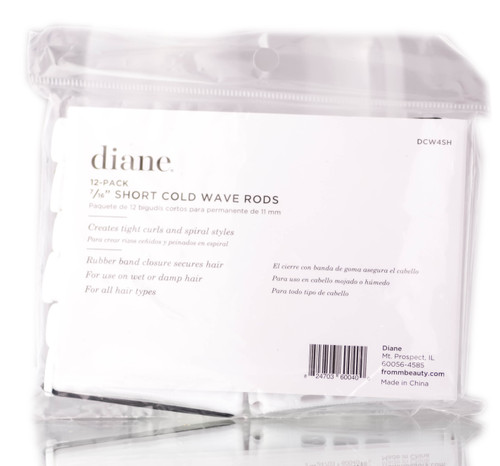 Diane 12 PC White Cold Wave Rods - 7/16""