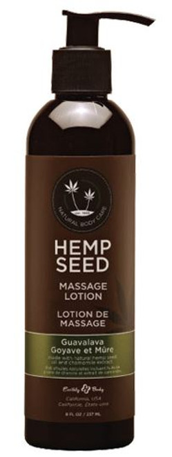 Earthly Body Hemp Seed Massage Lotion (8 oz)