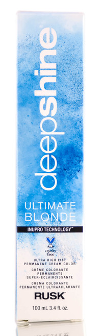 Rusk Deepshine Ultimate Blonde Ultra High Lift Permanent Cream Color