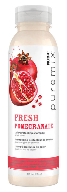 Rusk Puremix Fresh Pomegranate Color Protecting Shampoo