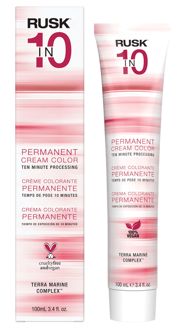 Rusk In 10 Permanent Cream Color, 10 Minute Processing Haircolor Dye