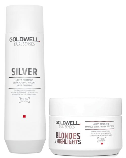 Goldwell Kit -Dualsenses Silver Shampoo & 60 Sec Treatment