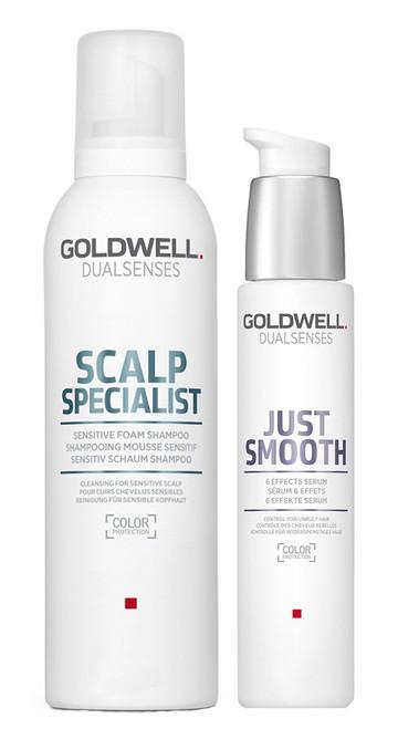 Goldwell Kit -Dualsenses Scalp Specialist Foam Shampoo & 6 Effect Serum