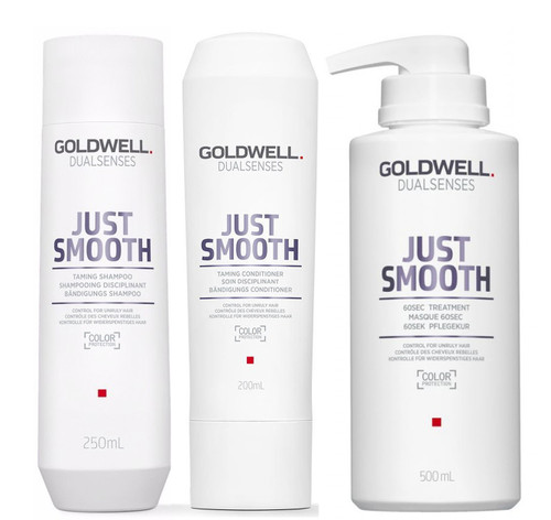 Goldwell Kit -Dualsenses Just Smooth Taming Shampoo & Conditioner & 60 Sec Treatment