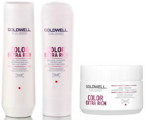 Goldwell Kit -Dualsenses Color Extra Rich Brilliance Shampoo & Conditioner & 60 Sec Treatment