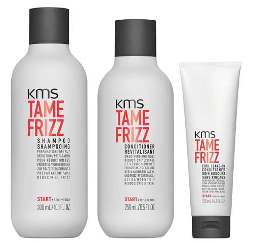 KMS Set - Tame Frizz Shampo & Conditioner & Leave-In Conditioner