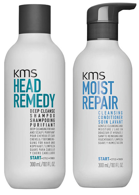 KMS Set - Head Remedy Deep Cleanse Shampoo & Moist Repair Cleansing Conditioner