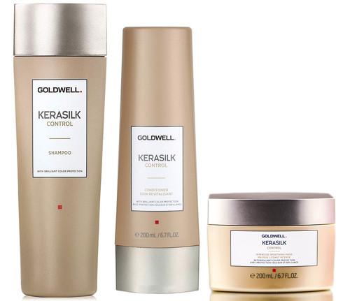 Goldwell Kerasilk Control Shampoo & Conditioner & Intensive Smoothing Mask