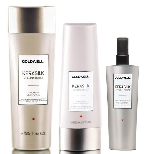 Goldwell Kerasilk Reconstruct Shampoo & Conditioner & Pre-Treatment