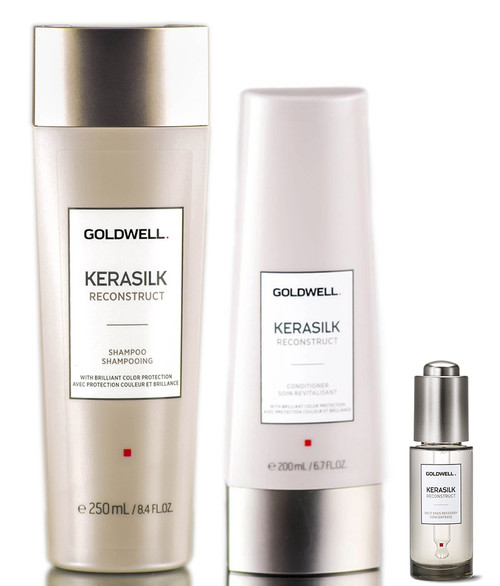 Goldwell Kerasilk Reconstruct Shampoo & Conditioner & Split Ends Recovery