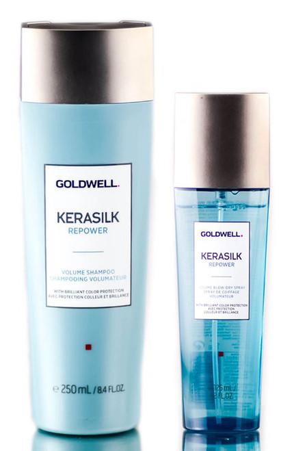 Goldwell Kerasilk Repower Volume Shampoo & Blow Dry Spray