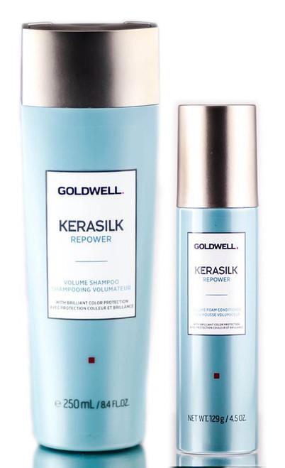 Goldwell Kerasilk Repower Volume Shampoo & Foam Conditioner