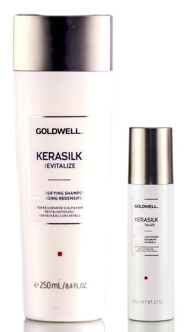 Goldwell Kerasilk Revitalize Redensifying Shampoo & Rebalancing Scalp Foundation