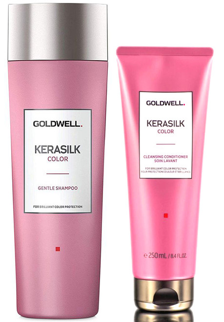 Goldwell Kerasilk Color Gentle Shampoo & Color Cleansing Conditioner