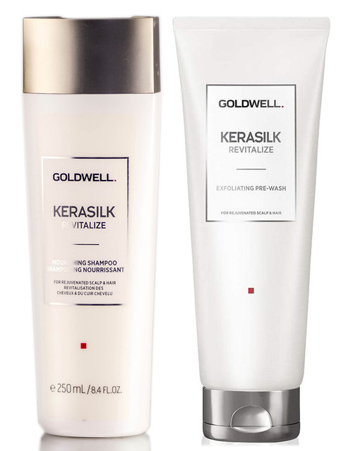 Goldwell Kerasilk Revitalize Nourishing Shampoo & Exfoliating Pre-Wash