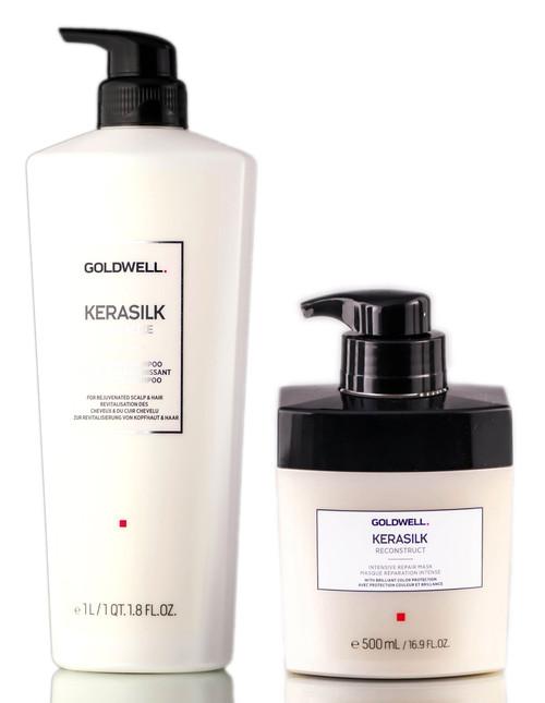 Goldwell Kerasilk Revitalize Nourishing Shampoo & Intensive Repair Mask