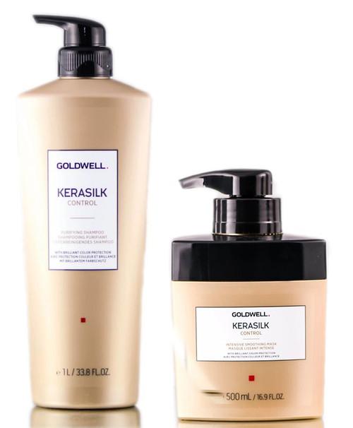Goldwell Kerasilk Control Purifying Shampoo & Intensive Smoothing Mask